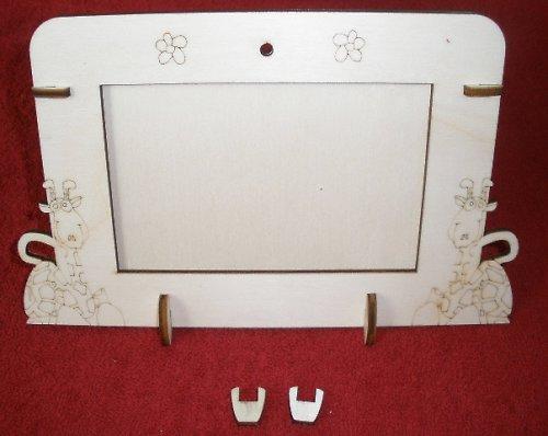 2v1 rámeček na šířku fota 10x15cm - ŽIRAFY