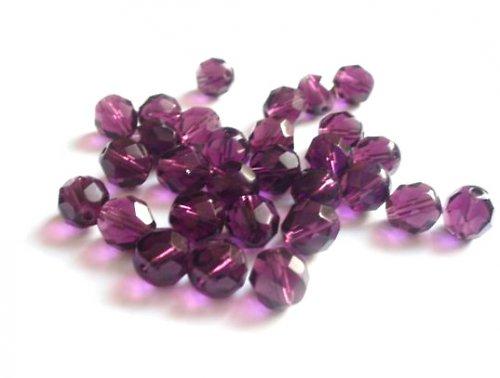 Broušené perle ametyst 8mm