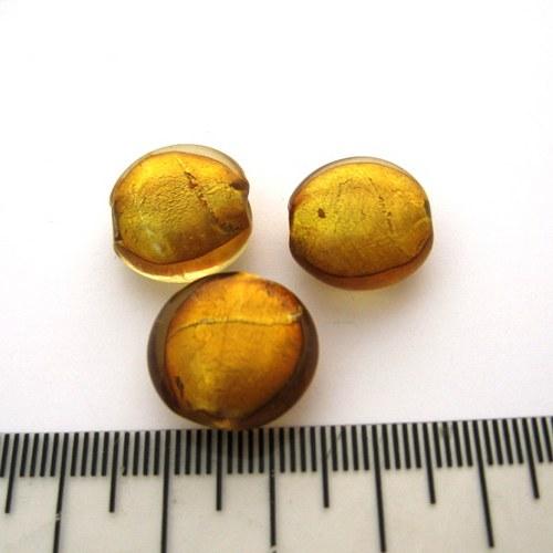 vinutá perla čočka 16mm, topaz