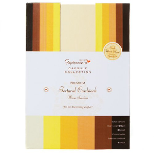A4 PREMIUM Textured Cardstock - WARM SUNSHINE 30ks