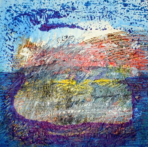 the moon stone - tisk na plátno.
