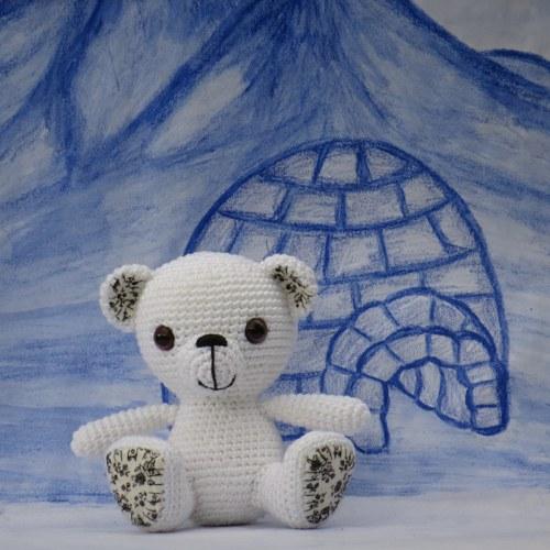 Sedící medvídek Ledík