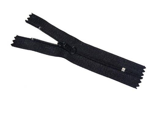 Zip / zdrhovadlo - černý, nedělitelný, 10cm