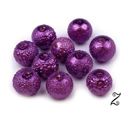 Zigana, fialová tmavá, 8 mm (20ks)