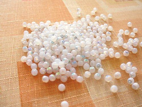 Kulička bílý opál s dekorem