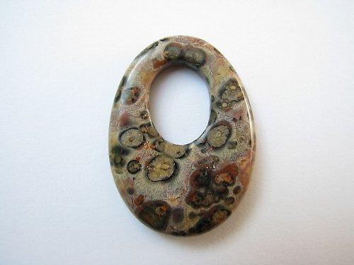 jaspis leopardí - slza s dírou