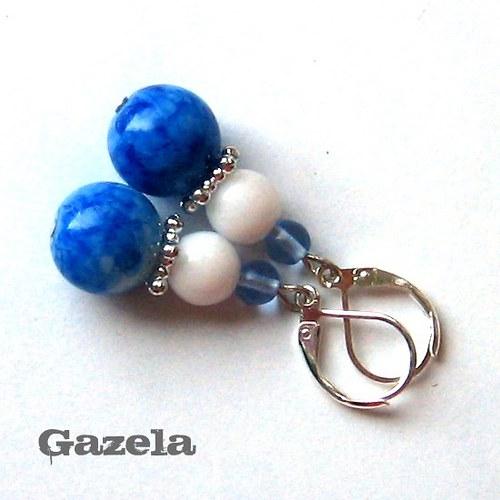 Náušnice Modrá batika