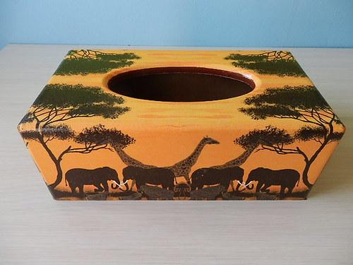 Krabička na kapesníky Sloni