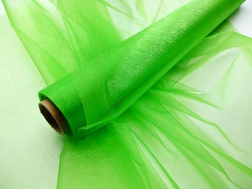 Organza zelená neobroubená (barva č. 32)