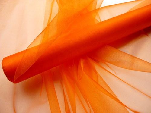 Organza tmavě oranžová neobroubená (barva č. 29)