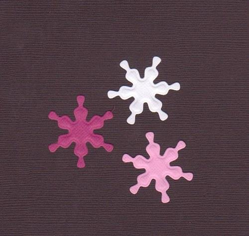 Vločky - růžové/bílé výseky (3 ks)