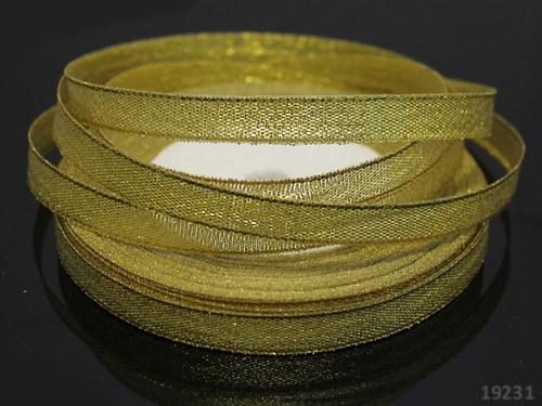 19231 Luresová stuha zlatá 10mm, svazek 3m