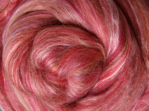 Česanec Merino s hedvábím - Pomegranate 25 g
