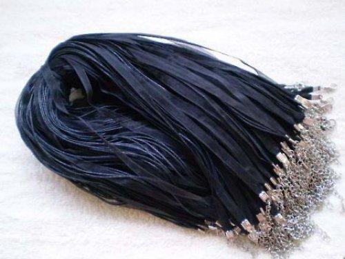 Organza náhrdelník černý