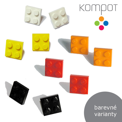 LEGO HRANATÉ :: pecky, více barev (chir. ocel)