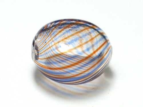 skleněný foukaný korálek 11x20mm
