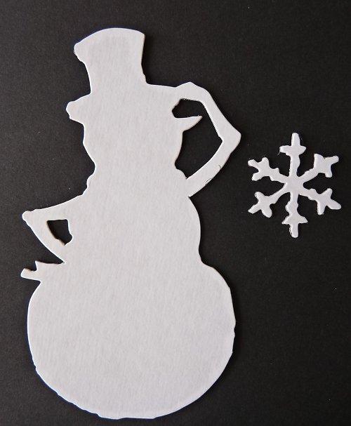 Výseky - sněhulák a vločka