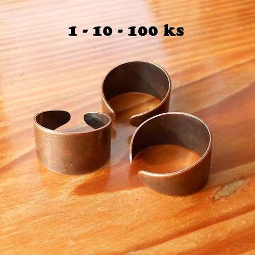 Prsten LUXUS 12mm - 1ks - Měděný