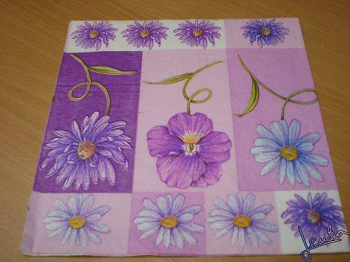 Ubrousek květiny fialové mix