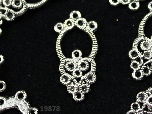 19878 Ramínko tibetské stříbro 25/12,bal.  2ks