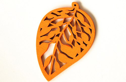 dřevěné lístečky- oranžové