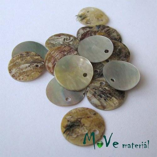 Perleťové penízky 13mm, 10ks, přírodní