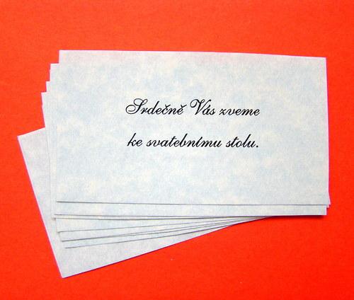 Pozvánky ke svatebnímu stolu
