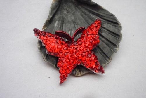 motýl  červený 2 ks