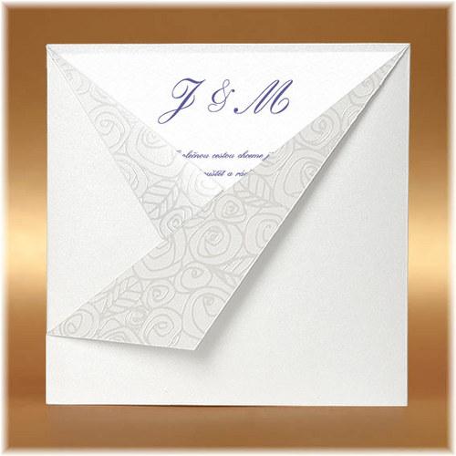 Luxusní perleťová kapsa - svatební oznámení