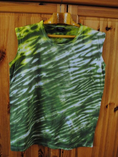 Výprodej - Batikované tričko L - Lesní pramen