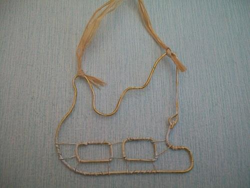 sáně drátěné  mikulášské 11 x 9,5 cm