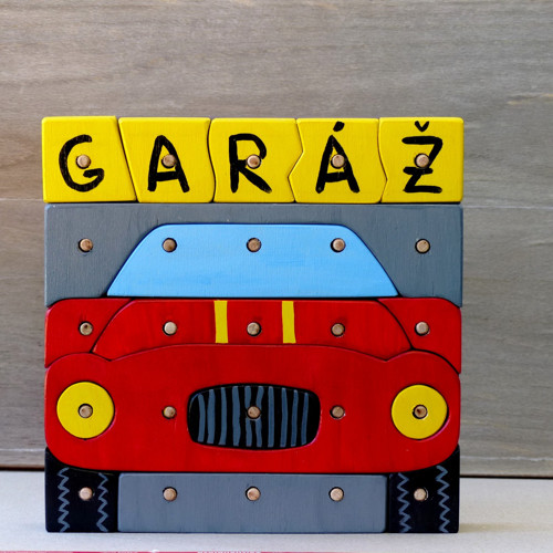 Geopuzzle - auto v garáži