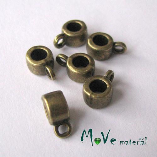 Korálek kovový 9x5,8mm závěsný, 6ks