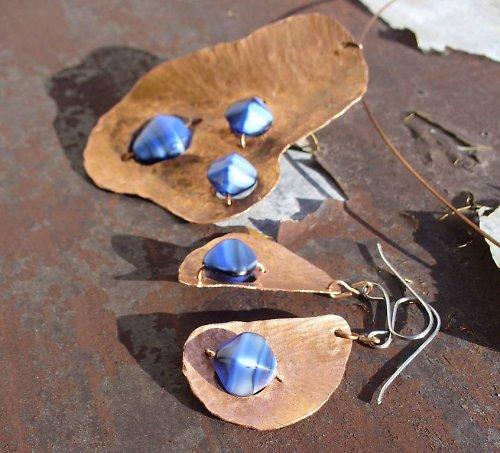 Modré souputnice - set