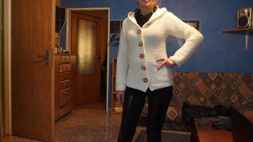 Dámský pletený svetr,kabátek