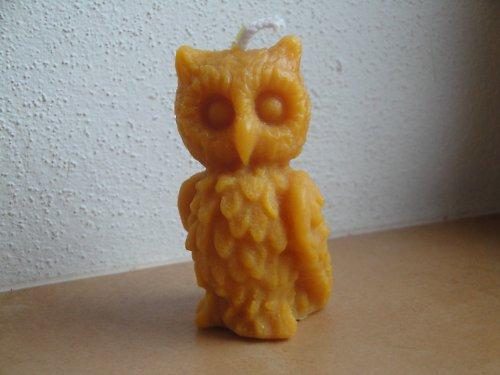 Svíčka ze včelího vosku - sova