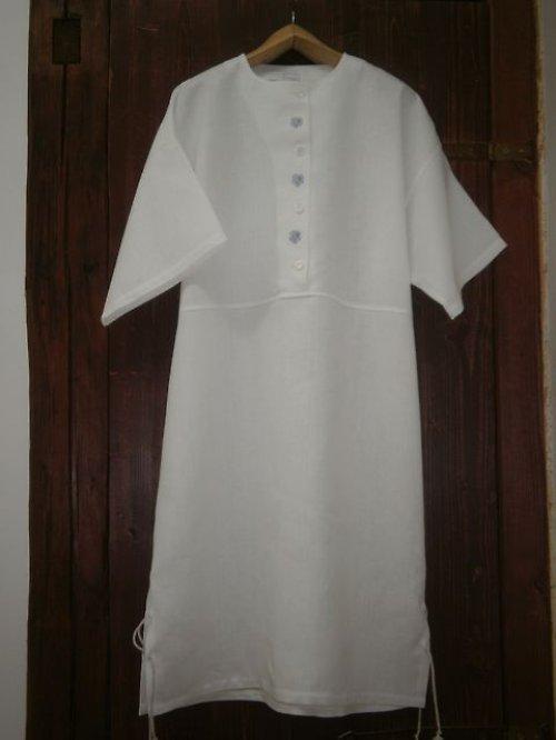 Dámské domácí lněné šaty - tunika