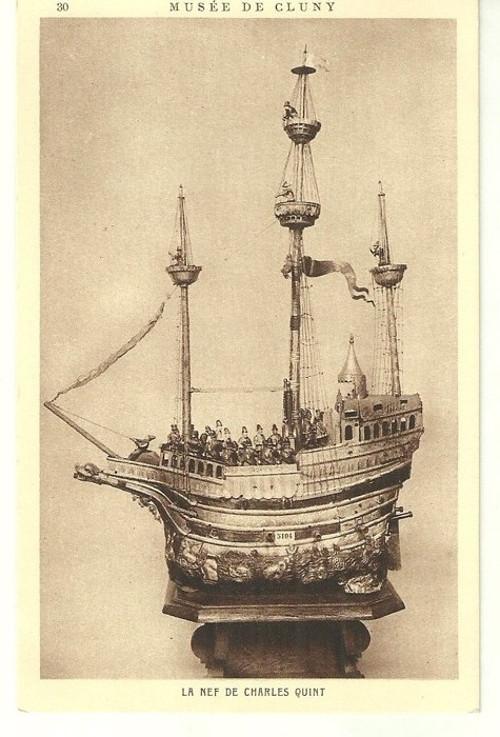 Umělecká pohlednice Figurální Loď