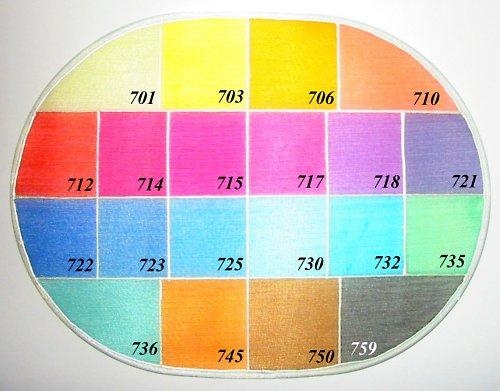 Silk color GL 712 šarlatově rudá, 60 ml