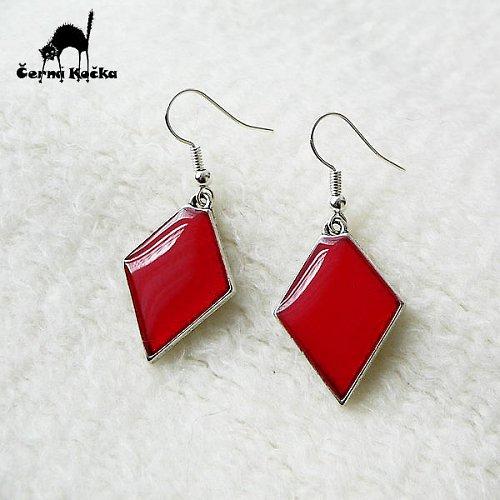 Lišácké náušnice Červené paní