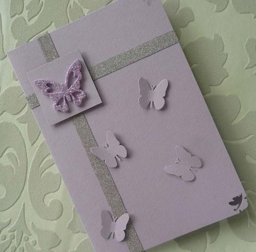 Přání svatební motýlkové
