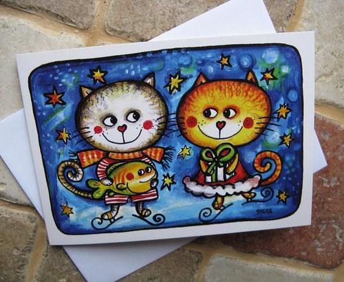Kočky na ledě- přání