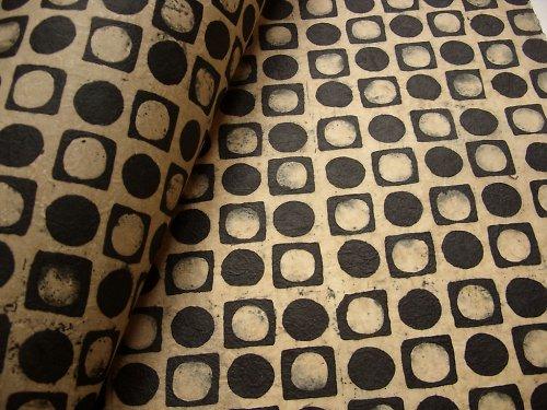Ruční papír Lokta A4 - vosková batika
