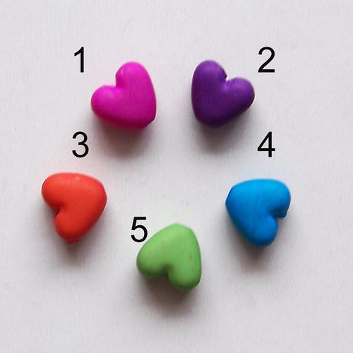 korálek srdce MATT /9 x10mm/ modrá č.4 / 12ks