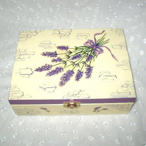 Levandulová krabička na čaj
