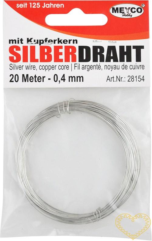 Stříbrný drátek - ø 0.4 mm, délka 20 m