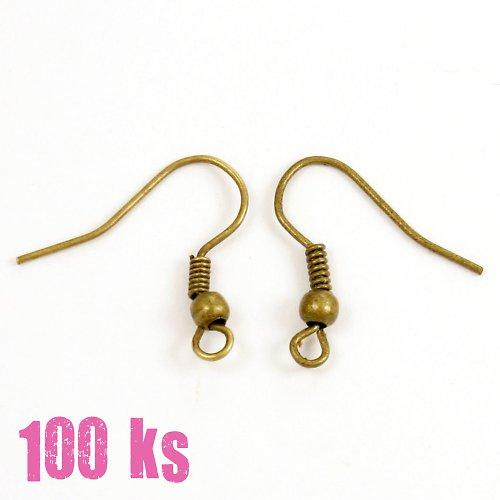 Afroháčky - bronzová barva, 100 ks