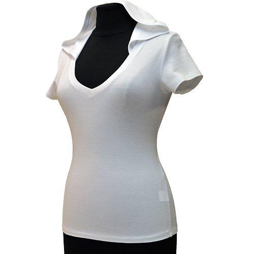 Bílé tričko s kapucí belaroma s krátkým rukávem