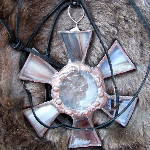 Vitrážová kytka-při nákupu sleva na šperkovnice10%