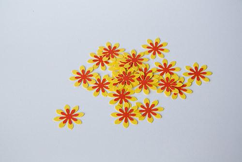 Kytka - žluto-červená 2